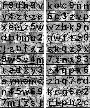 ココログのCAPTCHA